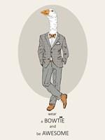 Goose in Pin Suit Fine-Art Print