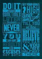 Motivation Set Blue Fine-Art Print