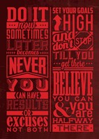 Motivation Set Red Fine-Art Print