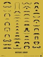 Mustache Library Fine-Art Print
