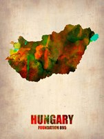 Hungary Watercolor Fine-Art Print