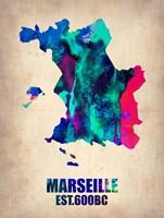 Marseille Watercolor Fine-Art Print
