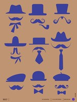 Hats and Mustaches 2 Fine-Art Print