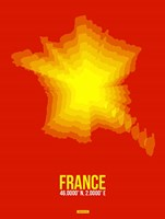 France Radiant Map 1 Fine-Art Print