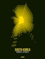 South Korea Radiant Map 3 Fine-Art Print
