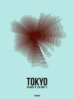 Tokyo Radiant Map 4 Fine-Art Print