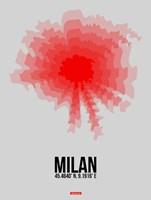 Milan Radiant Map 1 Fine-Art Print