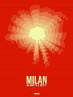 Milan Radiant Map 2 Fine-Art Print