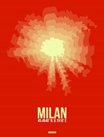 Milan Radiant Map 2 Fine-Art Print