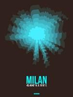 Milan Radiant Map 3 Fine-Art Print