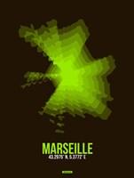Marseille Radiant Map 1 Fine-Art Print
