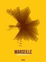 Marseille Radiant Map 3 Fine-Art Print