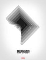 Washington DC Radiant Map 5 Fine-Art Print