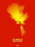 Los Angeles Radiant Map 5 Fine-Art Print