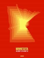 Minnesota Radiant Map 2 Fine-Art Print