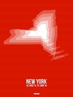 New York Radiant Map 3 Fine-Art Print