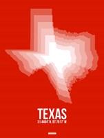 Texas Radiant Map 3 Fine-Art Print