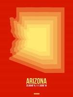 Arizona Radiant Map 3B Fine-Art Print