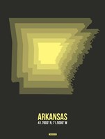 Arkansas Radiant Map 5 Fine-Art Print