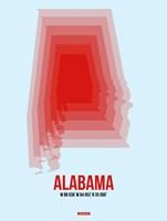 Alabama Radiant Map 2 Fine-Art Print