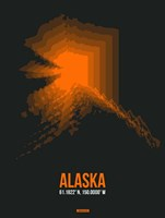 Alaska Radiant Map 6 Fine-Art Print