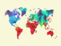 Dotted World Map 4 Fine-Art Print