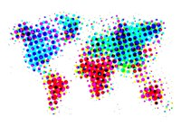 Dotted World Map 6 Fine-Art Print