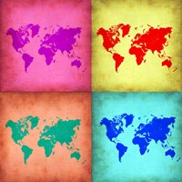 Pop Art World Map 1 Fine-Art Print