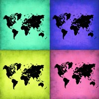 Pop Art World Map 2 Fine-Art Print