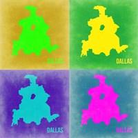 Dallas Pop Art Map 2 Fine-Art Print
