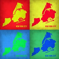 New York Pop Art Map 1 Fine-Art Print