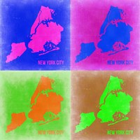 New York Pop Art Map 2 Fine-Art Print