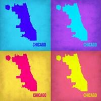 Chicago Pop Art Map 1 Fine-Art Print
