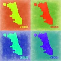 Chicago Pop Art Map 2 Fine-Art Print