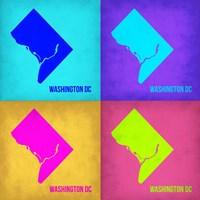 Washington DC Pop Art Map 1 Fine-Art Print