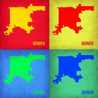 Denver DC Pop Art Map 1 Fine-Art Print