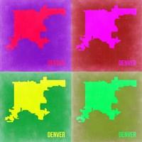 Denver DC Pop Art Map 2 Fine-Art Print