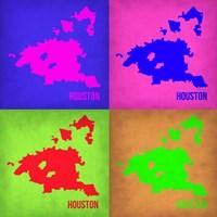 Houston Pop Art Map 1 Fine-Art Print