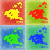 Houston Pop Art Map 2 Fine-Art Print