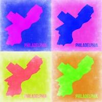 Philadelphia Pop Art Map 1 Fine-Art Print