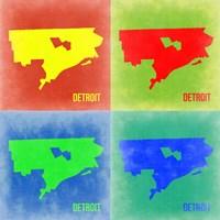Detroit Pop Art Map 2 Fine-Art Print