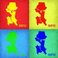 Seattle Pop Art Map 1 Fine-Art Print
