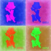 Seattle Pop Art Map 2 Fine-Art Print