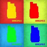 Minneapolis Pop Art Map 1 Fine-Art Print