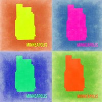 Minneapolis Pop Art Map 2 Fine-Art Print