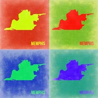 Memphis Pop Art Map 2 Fine-Art Print