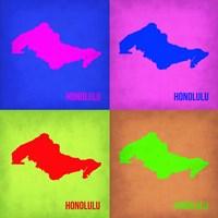 Honolulu Pop Art Map 1 Fine-Art Print