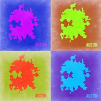 Austin Pop Art Map 2 Fine-Art Print