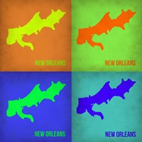 New Orleans Pop Art Map 1 Fine-Art Print