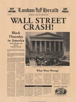 Wall Street Crash! Fine-Art Print